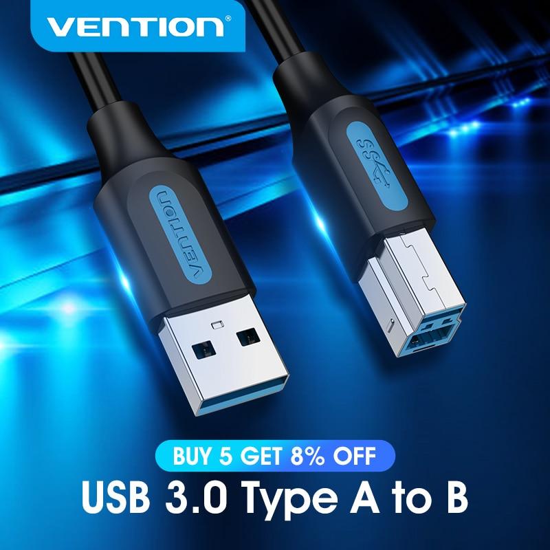 Vention-Cable USB para impresora 3,0 2,0 tipo A macho A B, Cable...