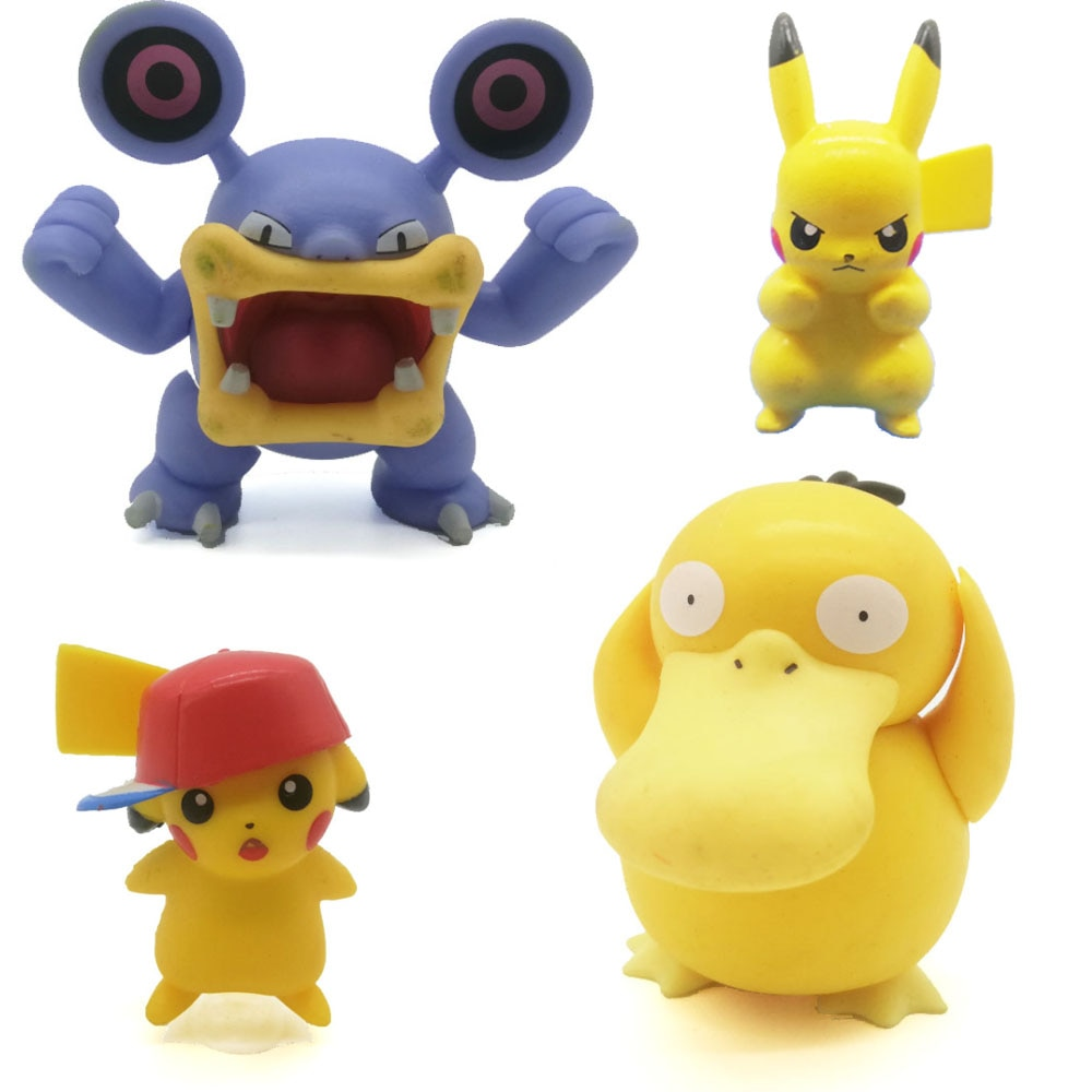 Brinquedo original pokemon figuras ação hobbies pikachu charmander anime figura festa bolo enfeites trinket crianças presente de aniversário
