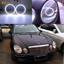 Ultra bright COB led angel eyes kit halo rings For Mercedes Benz e class w211 E200 E220 E270 E280 E320 E420 CDI 2003-2009