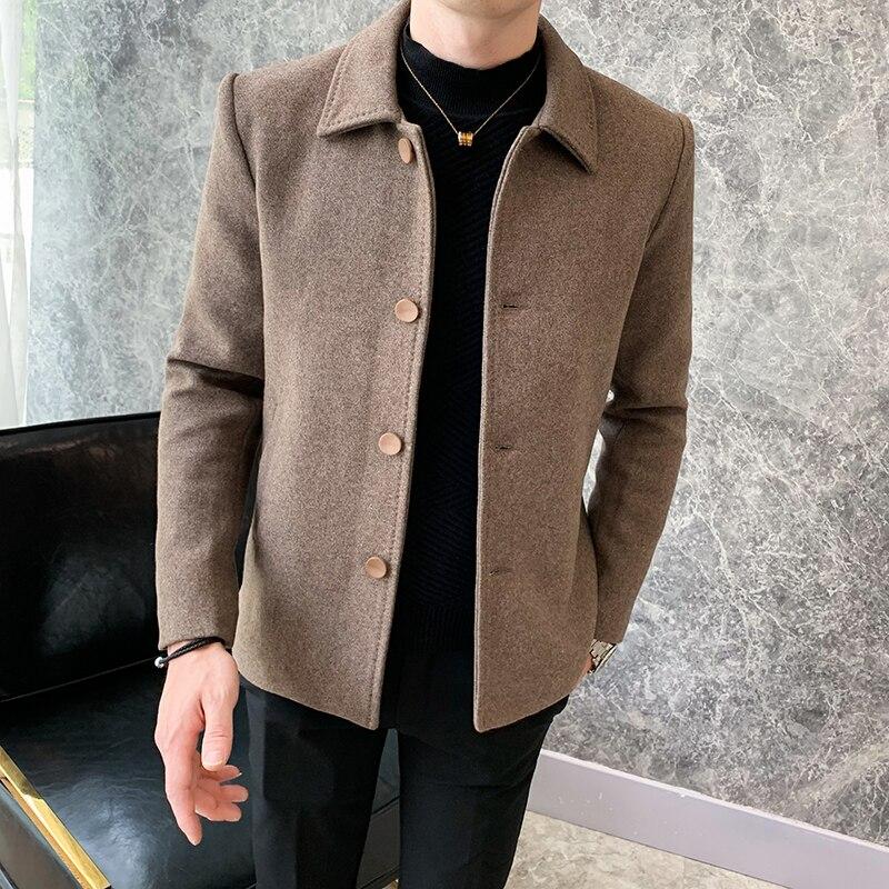 Мужская хлопковая куртка, короткая шерстяная куртка, модная ветровка, Молодежная индивидуальная модная мужская одежда, осень-зима 2021