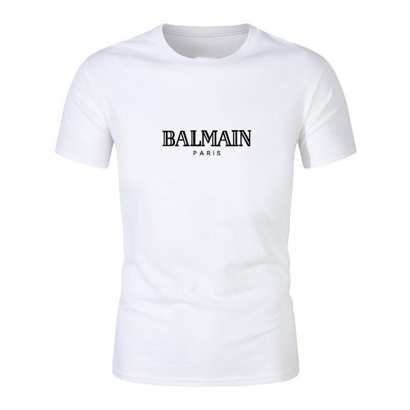 ¡Novedad de verano! Camisetas de ejercicio a la marca de moda, camisetas casuales para hombre con estampado de letras, camisetas Paris de manga corta de algodón de Hip Hop