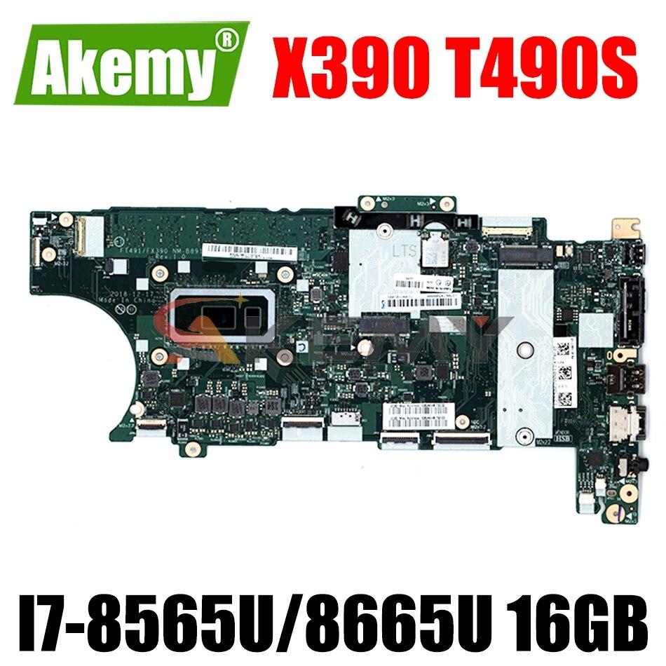 NM-B891 للكمبيوتر المحمول ThinkPad T490S اللوحة الأم FT491/FX390 NM-B891 مع I7-8565U/8665U 16GB RAM الأصلي 100% اختبارها بالكامل