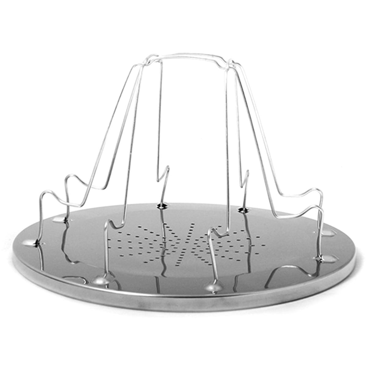 Tostadora portátil Simple de acero inoxidable, Parrilla portátil plegable para acampar al aire libre, parrilla multiusos
