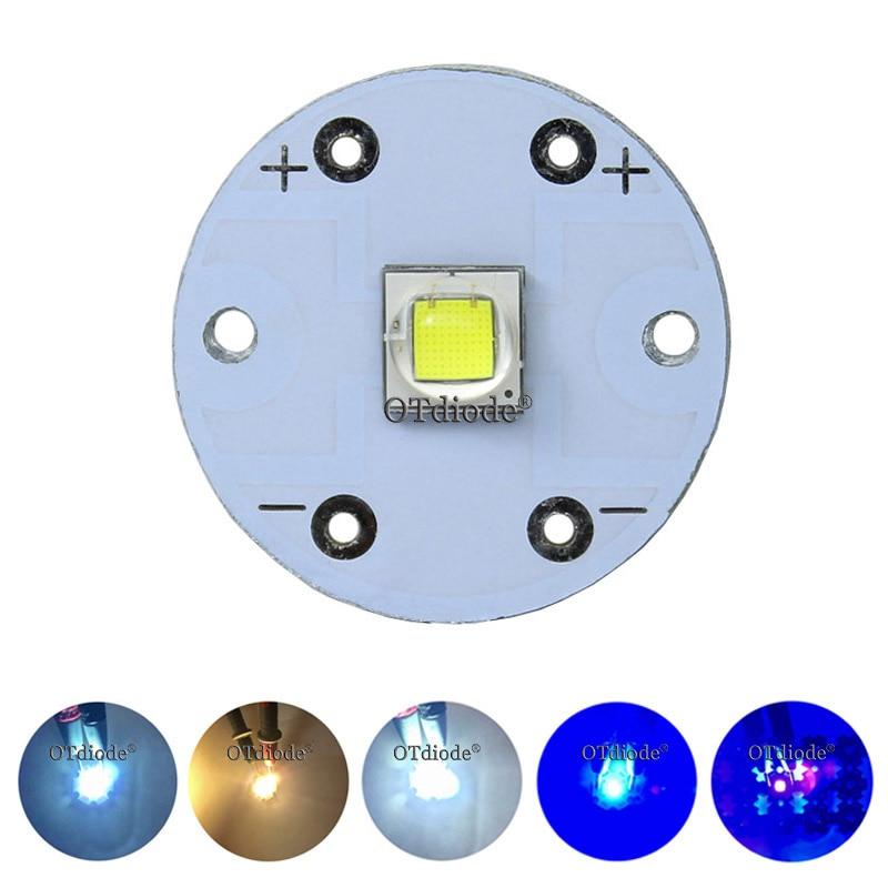 10 w cree XM-L2 t6 xml2 u2 diodo de luz led smd5050 10 w redondo 20mm pcb para lanterna luz do carro farol alta potência bulbo grânulo diy