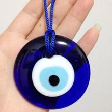 Multiple sizes Fashion Lucky Turkish Greek Evil Blue Eye Charm Pendant Gift Blue Lamp work Glass Car Home Amulet L0249