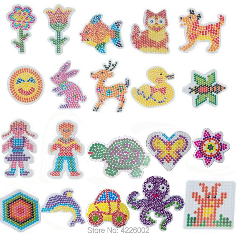 10pcs Pegboards for Hama Beads 5mm Perler Ironing Model Mosaic Girls Children DIY Water Beads Puzzle Accessories Kids Toys