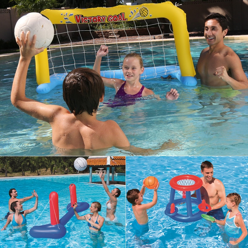 Juguetes de competencia para piscina de agua de verano, aro inflable de baloncesto para niños, juego de fiesta, deporte del baloncesto, juguetes flotantes divertidos para piscina