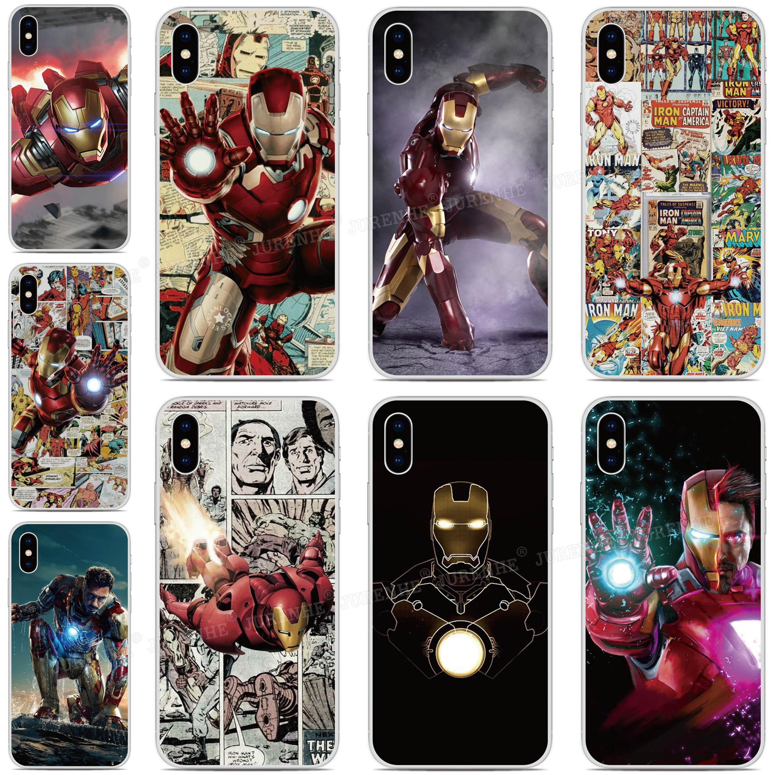 Imprimir Soft TPU superhéroe Iron Man teléfono caso para Ulefone Nota 7/nota 7 P/potencia 3 3 S/potencia/6/S10 S1 Pro S7 cubierta trasera de silicona