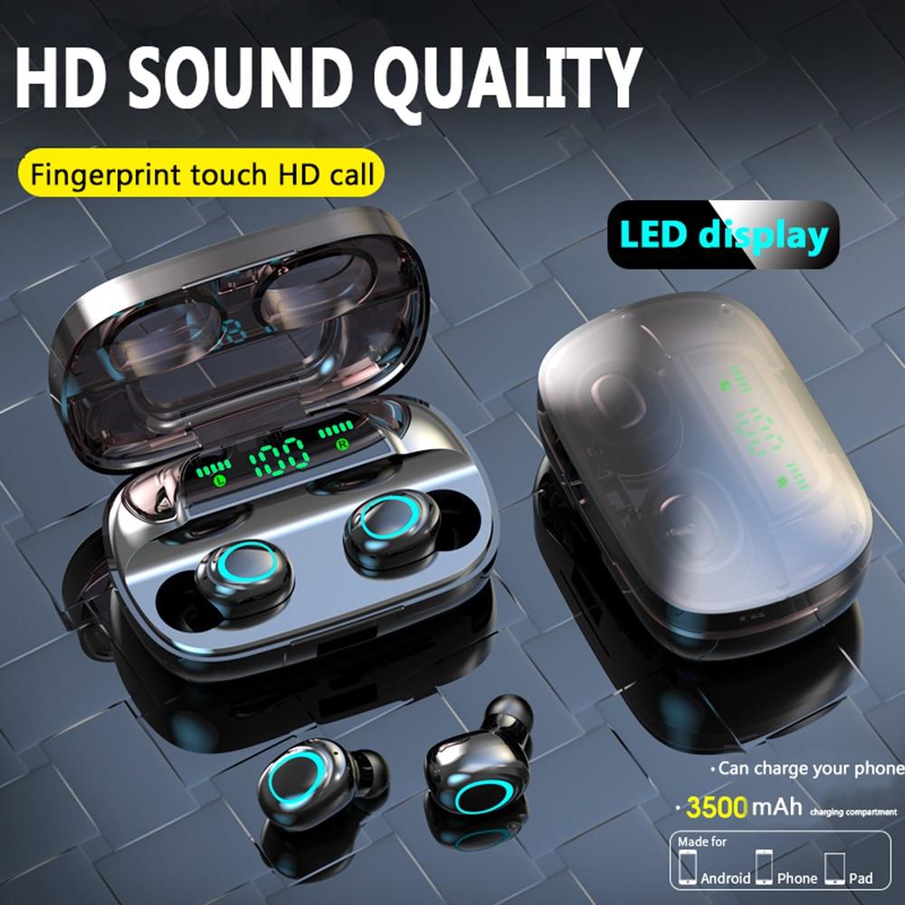 Auriculares deportivos Auriculares inalámbricos con Bluetooth S9 S11TWS, auriculares portátiles táctiles resistentes al sudor con touch HD, auriculares con reducción de ruido y control táctil