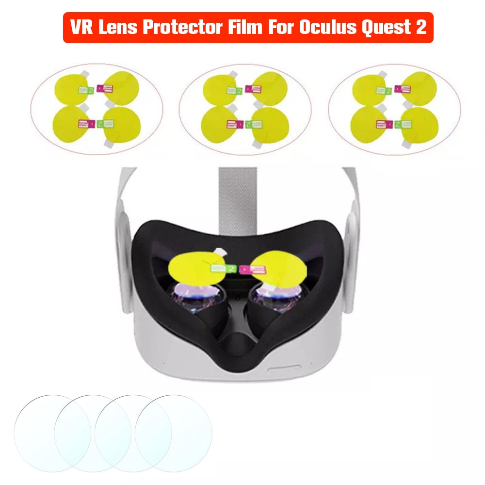 VR Lens Protector Film For Oculus Quest 2 Rift S VR Glasses Waterproof Anti-Fingerprint Anti Scratch