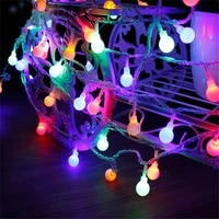 1 5m 3m 6m 10m led string fairy lights with cherry balls led globe waterproof starry light for garden christmas wedding party