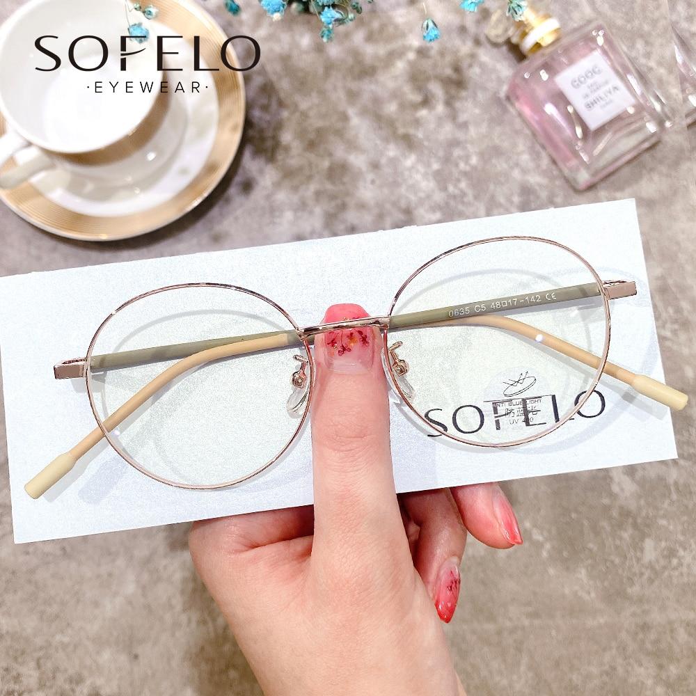 Round Myopia Prescription Glasses Women Retro Optical Progressive Eyeglasses Ladies Vintage Multifoc