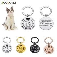 custom pet id tags custom dog plate personalized cat collar accessory pendant dog cats tag anti lost dog medal with engraving