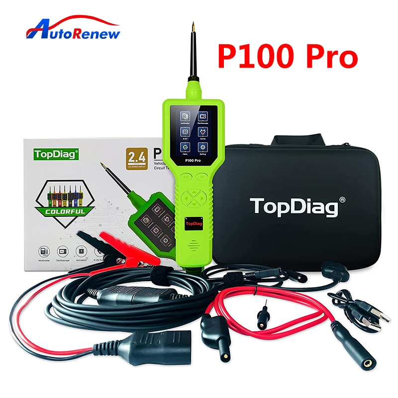 TopDiag Power Probe P100 Pro PK PS100 P200 Car Circuit Analyzer Automotive Electric System Tool Injector Tester Free Shipping