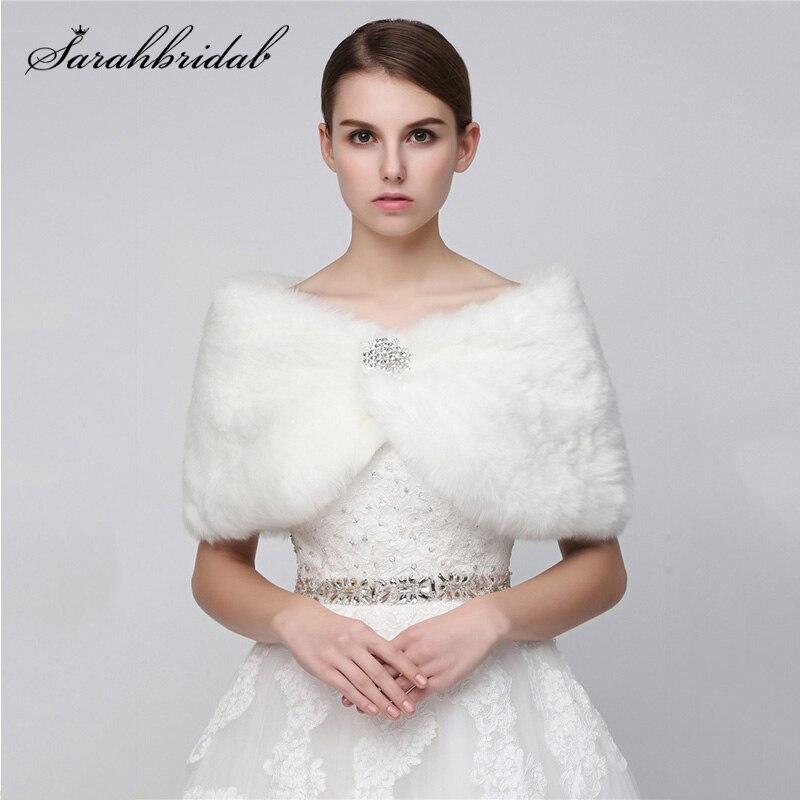 Jaqueta de casamento 2020 de pelo falso, atacado, colorida, bolero de noiva, xale, envoltório, casaco de pele do casamento, frete grátis 17012