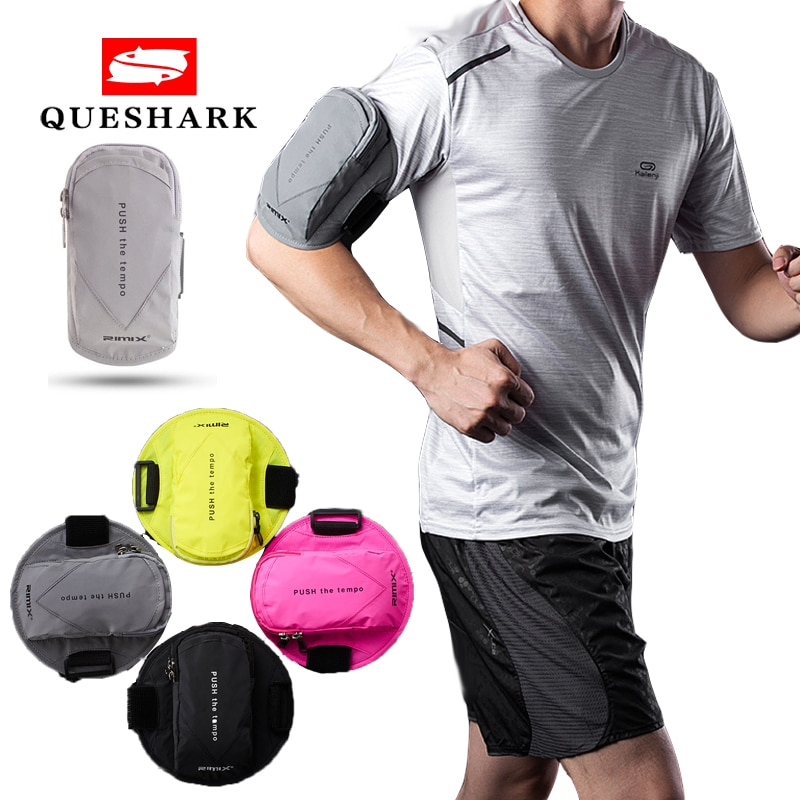 6 inch sports jogging gym armband running bag arm wrist band hand mobile phone case holder bag outdoor waterproof nylon hand bag Reflective Gym Fitness Armband Pouch Sport Bag Running Arm Bag Waterproof Mobile Phone Holder Outdoor Sport Arm Wrist Pouch Bag