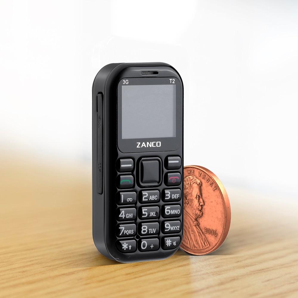 ZANCO tiny t2 самый маленький в мире телефон 3G GSM/WCDMA мини сотовый телефон самый маленький телефон праздничный телефон карманный телефон