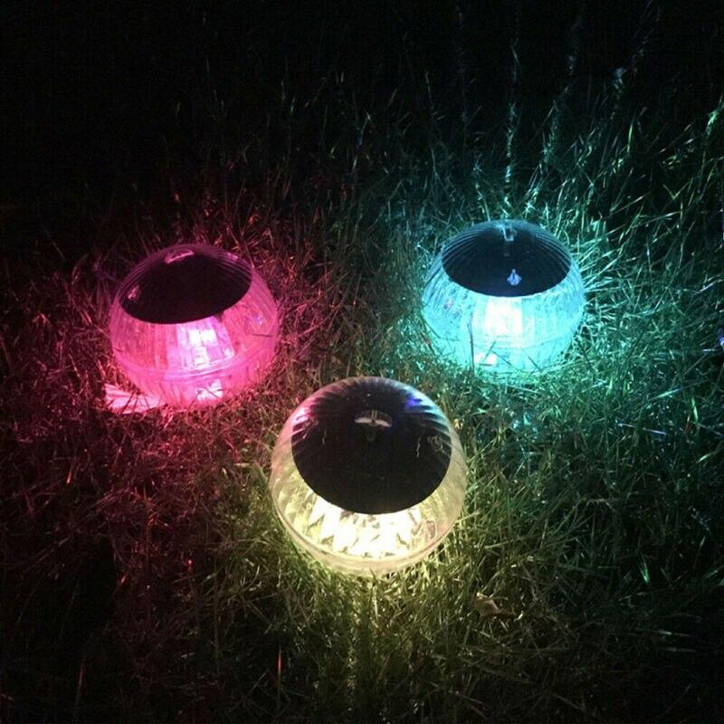 Lámpara LED alimentada con Sensor Solar, estanque de piscina, flotador, globo, bola, luz, cambio de Color