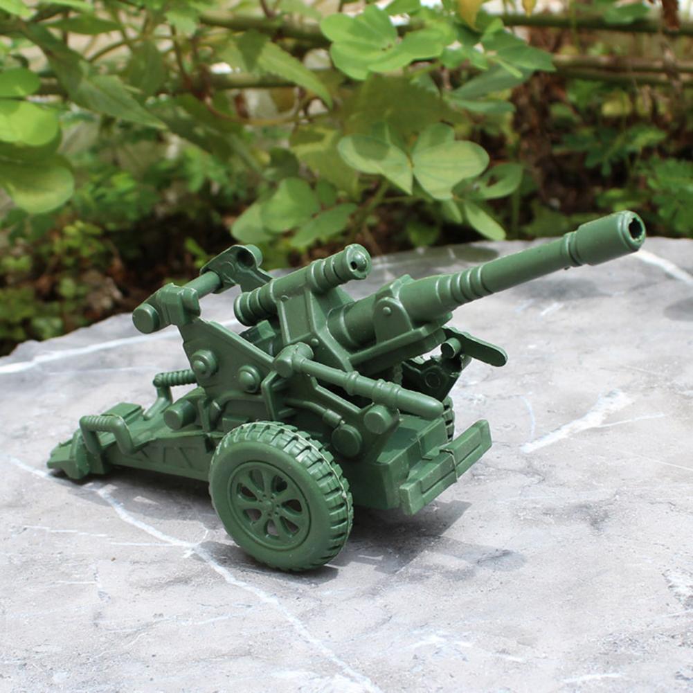 Modelo de mortero de artillería militar de dos ruedas para niños, accesorios de escena de guerra, juguetes educativos para niños, regalo
