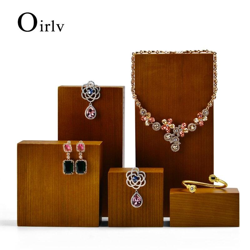 oirlv-Новый-Ретро-деревянный-Ювелирный-стенд-кольцо-браслет-ожерелье-серьги-подвеска-витрина-реквизит