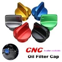 motorcycle engine oil filler cap for honda for kawasaki ninja crankcase cap cnc engine oil filler screw cover plug m202 5