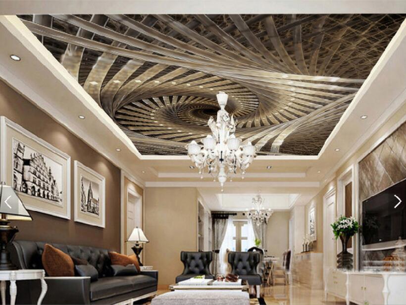 Personalizado mural papel 3D tridimensional espiral real arte geométrico zenith diseño decorativo...