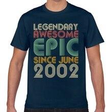 Tops T Shirt Männer legendären super epic seit Juni 2002 vintage Comic Schwarz Geek Individuelle Männliche T-shirt XXX
