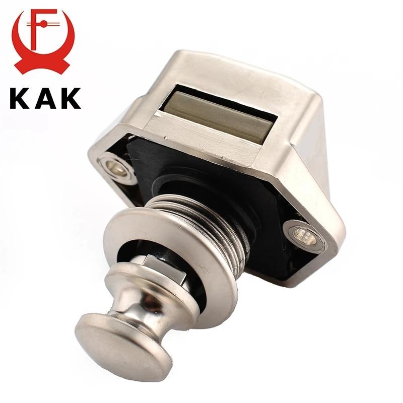 10PCS KAK Camper Car Push Lock 20mm RV Caravan Boat Motor Home Cabinet Drawer Latch Button Locks For Furniture Hardware