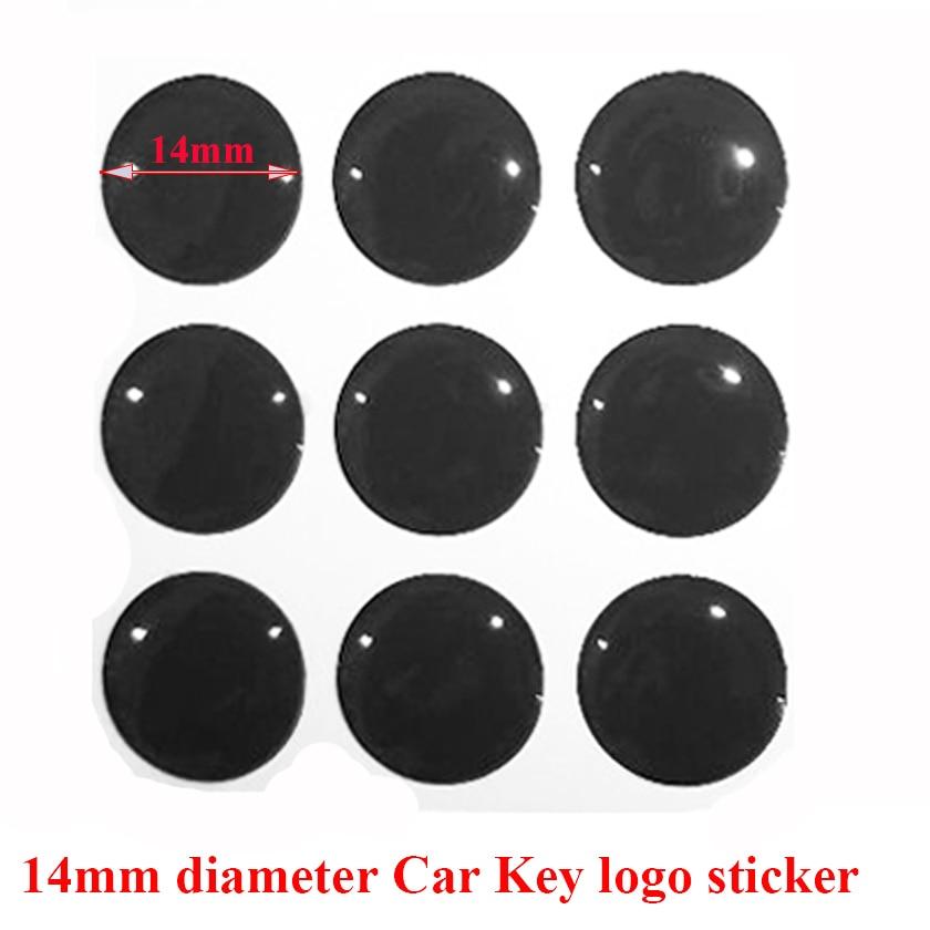 Emblema de coche de 14mm para mandos a distancia DIY con material de cristal de resina epoxi de alta calidad