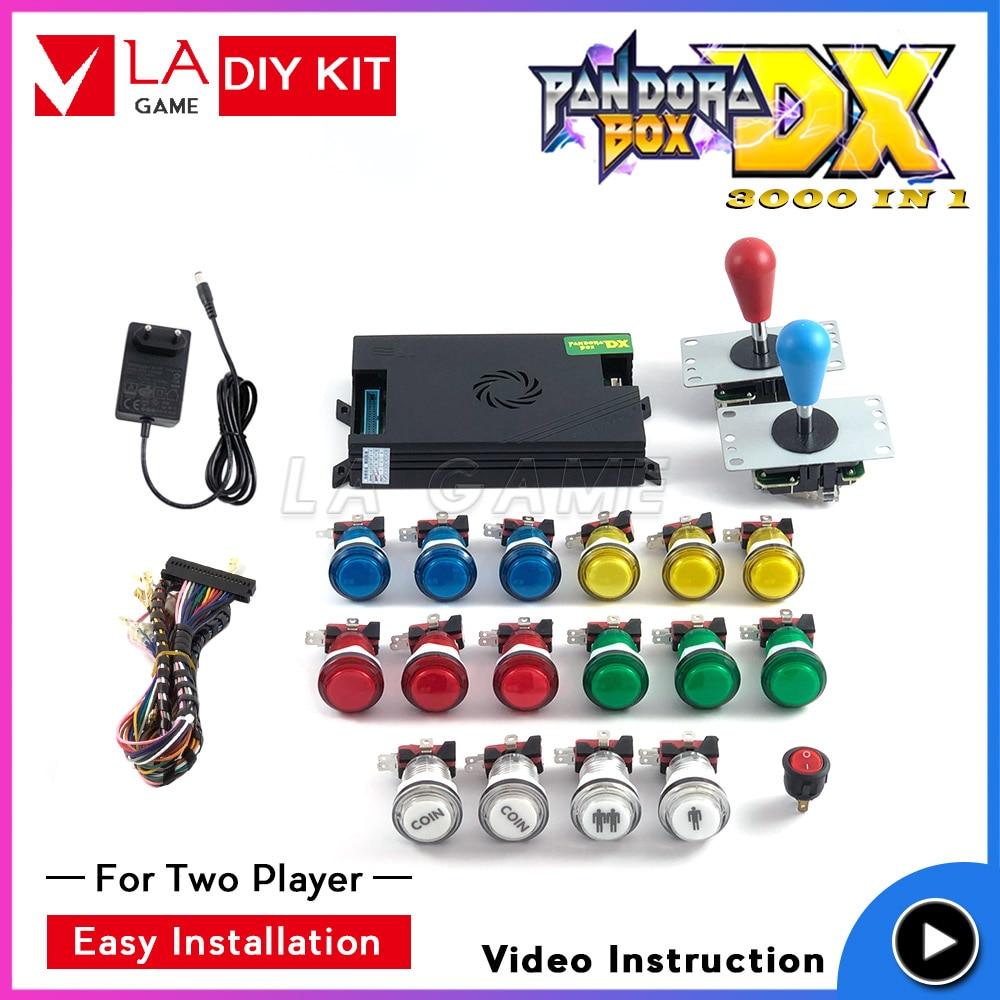 arcade kit 2 player pandora box dx 3000 games in 1 sanwa joystick arcade cabinet family version HD 720P 3d game tekken direct manufacturers use the 3d pandora box arcade machines