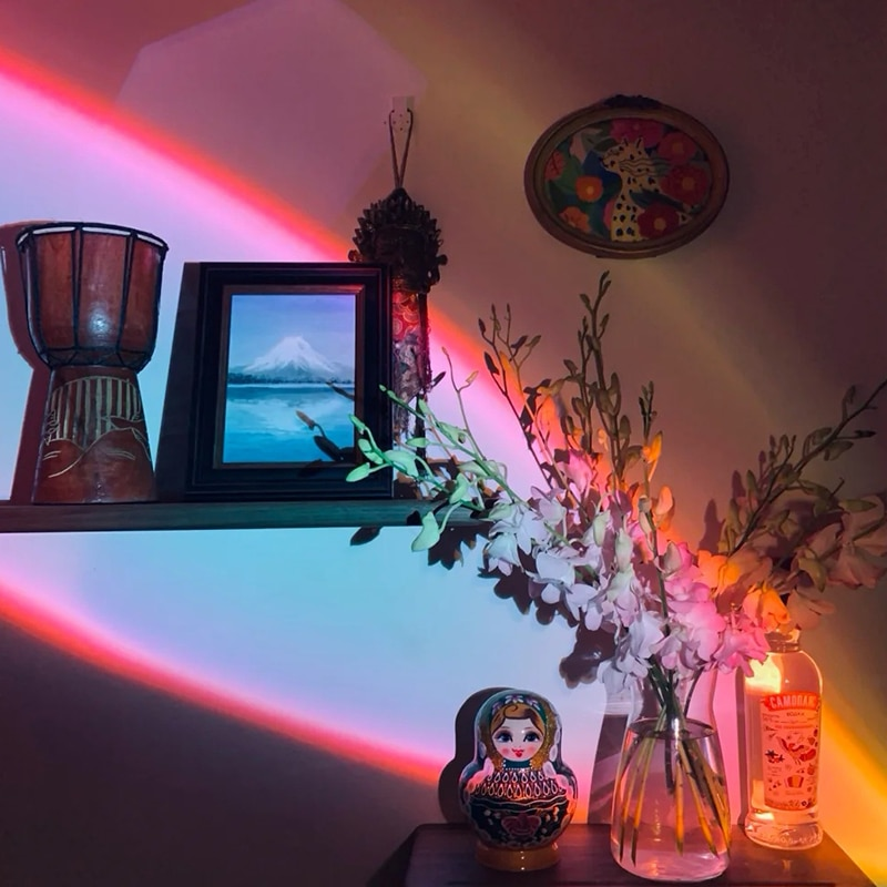 Sky Eye Table Lamp Creative Romantic Atmosphere LED Rainbow Night Light Bedroom Living Room Projection Decoration Luminaire Gift enlarge