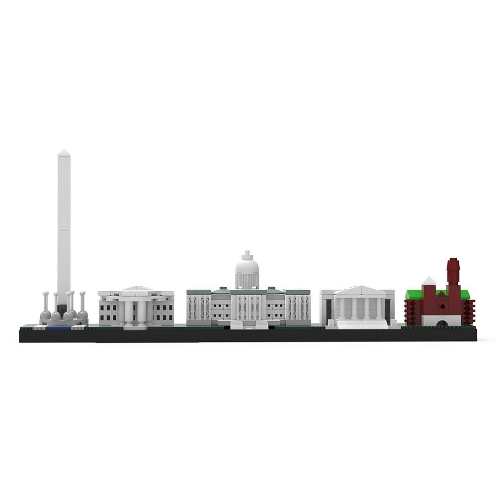 Конструктор MOC Skylinke, архитектура Вашингтон, Роттердам, набор строительных блоков, городская улица, здание, конструктор «сделай сам», игрушка...