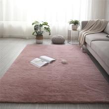 Super doux Faux lapin fourrure tapis antidérapant tapis de sol tapis lavable tapis chambre salon décor tapis en peluche tapis moelleux
