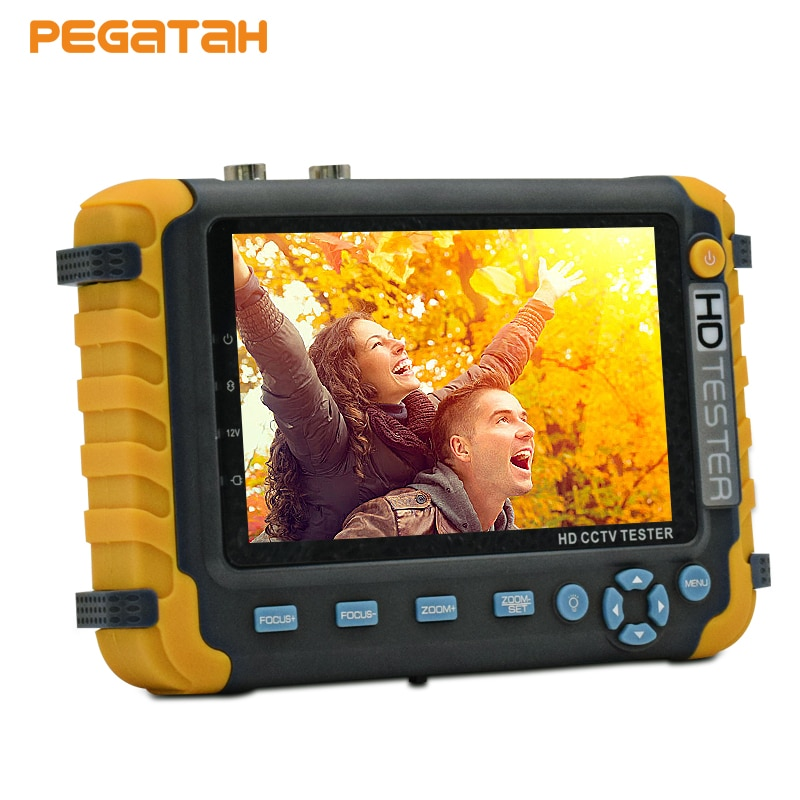 CVBS security Camera CCTV tester 5 inch  5MP 1080P UTC TVI AHD CVI Analog monitor Support VGA HDMI input UTP Cable test