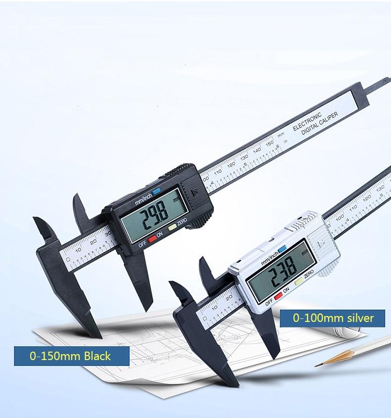 Цифровой штангенциркуль 6 дюймов Электронный штангенциркуль 100 мм Микрометр цифровая линейка, измерительный инструмент 150 мм 0,1 мм