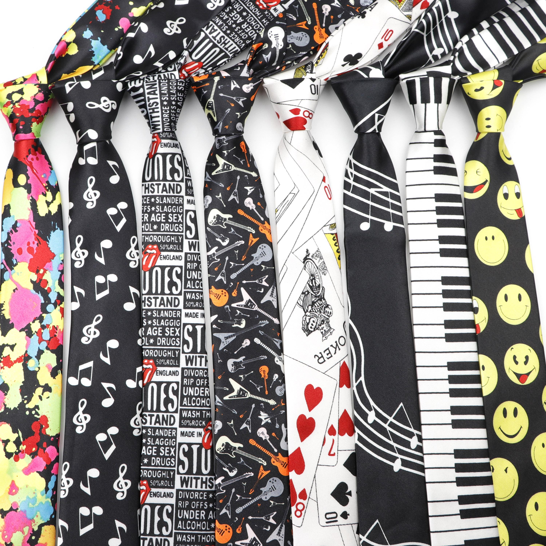 Мужской тонкий галстук покер в горошек каракули галстук с рисунком 145 см длина 5 см ширина вечерние Модные Узкие галстуки для костюма аксессуары для рубашек