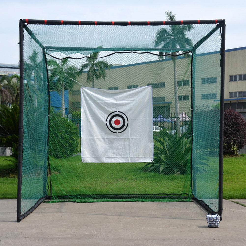 Лучшее качество 2 м х 2 м сеть для гольфа, сверхпрочный ударозащитный чистая, спорт, веревка, учебное пособие, сетка, учебные принадлежности
