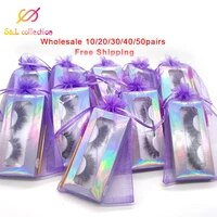 fluffy mink eyelashes wholesale lashes with box soft volume natural eyelasehs makeup 3d mink lashes in bulk