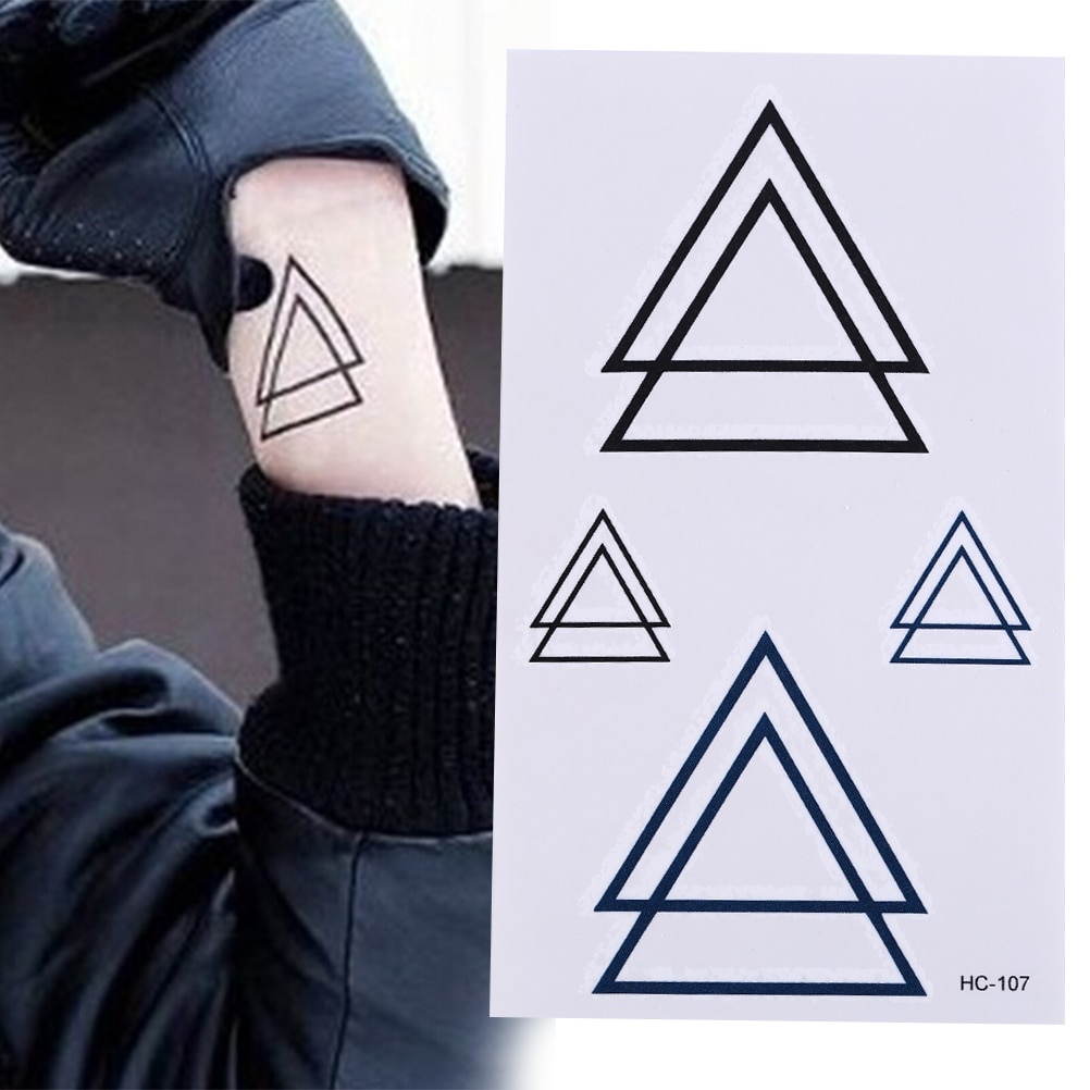 Tatuajes temporales de estilo moderno geométrico Unisex triángulo impermeable pintura del cuerpo tatuajes pegatina
