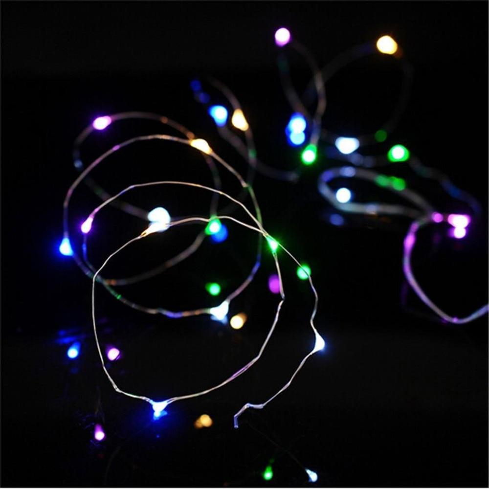 2 pcs a prova dwaterproof agua 2 m 20 leds luz da corda de cobre diy decoracao natal