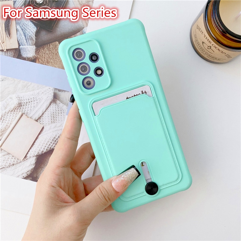 Phone Case For Samsung Galaxy A51 A32 A52 A72 A02S A21S A12 A22 Luxury Card Package S21 Plus Ultra S20 FE Shockproof Back Cover