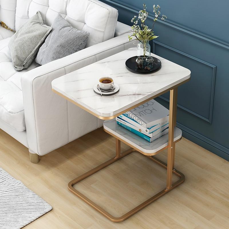 طاولة جانبية إبداعية متعددة الوظائف ، غرفة معيشة ، طاولة شاي صغيرة ، أريكة زاوية ، إطار حديدي ، مربعة ، مستديرة ، طاولة قهوة ، أريكة جانبية