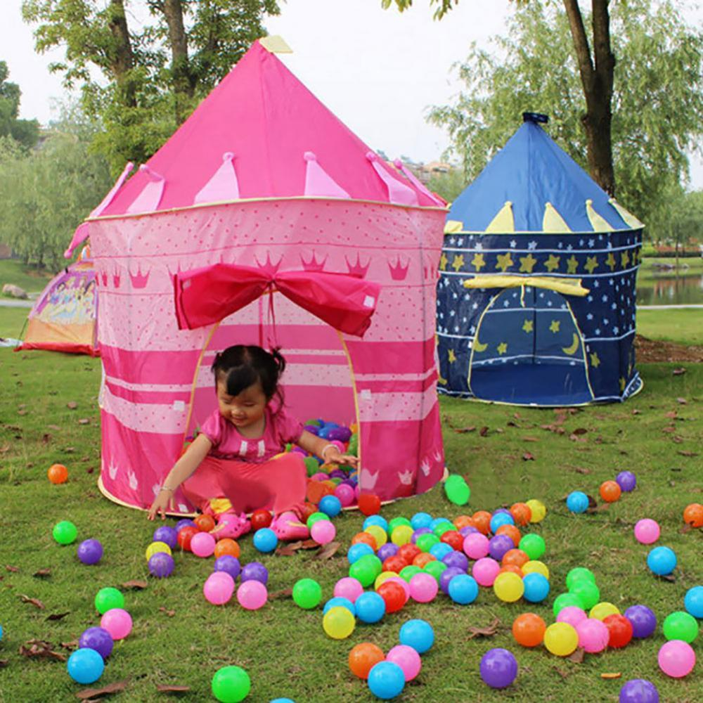 Funny Portable Play Kids Tent Children Indoor Outdoor Ocean Ball Pool Folding Cubby Toys Castle Enfant Room House Gift For Kids