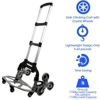 hand truck dolly luggage cart moving bottom folding travel heavy duty portable