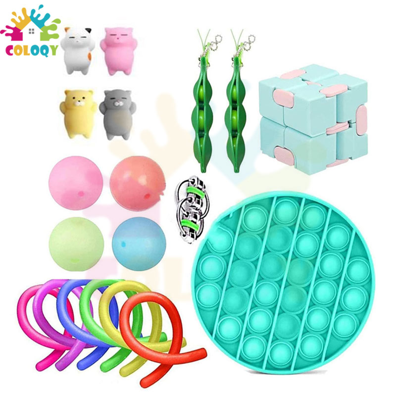 COLOQY  6Fidget Toys Pop it Sensory Antistress Toy Pack Squishy Squish mallow Decompression Stress Reliever Toy For Adults Kids enlarge