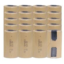 Tournevis 20 pièces SC batterie uniquement pour acheteur russe! SC batterie rechargeable SUBC NICD 1.2v batterie accumulateur 1300mAh