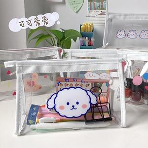 Kawaii Cute PVC Hello BEAR Pencil Case Pencil Bag School Office Supply Student Stationery Kids Gift