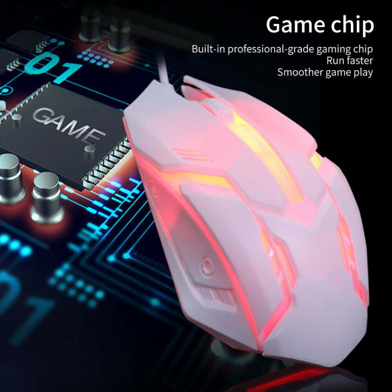 S1 Computer Mouse Gamer Ergonomic Gaming Mouse USB Wired Game Mause 7Color Silent Mice With LED Backlight 3 Button For PC Laptop недорого