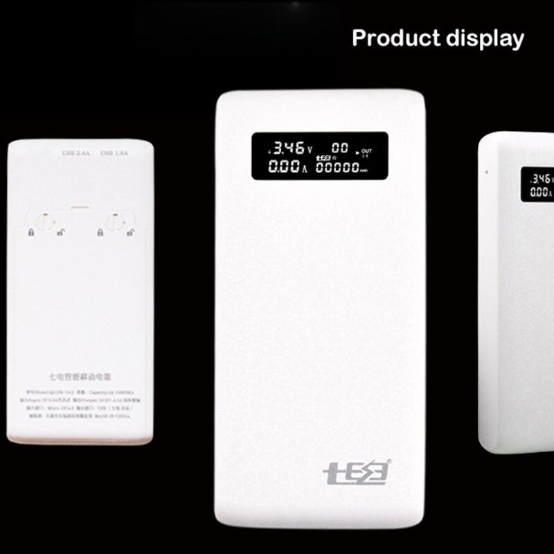 (لا بطارية) المزدوج USB QC3.0 الناتج 6x18650 بطاريات لتقوم بها بنفسك قوة البنك حامل الصندوق شاحن سريع للهاتف المحمول هاتف لوحي PC