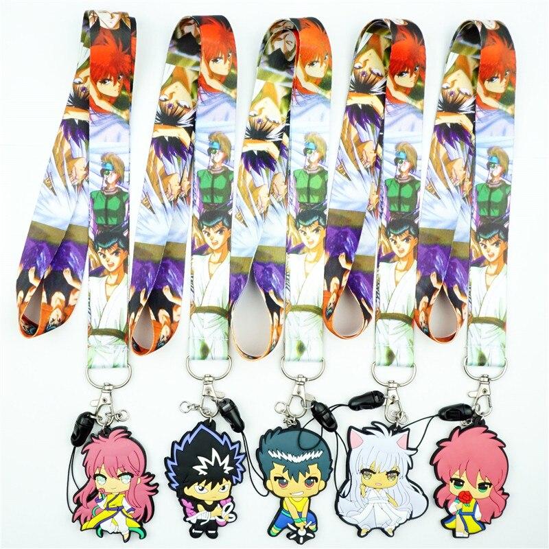 Аниме Yu Hakusho Urameshi Yuusuke Ремешок шейный ремешок ID значок держатель подвеска брелок Подвески Мобильный телефон косплей брелок
